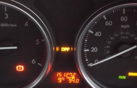 Mazda DPF Light flashing.